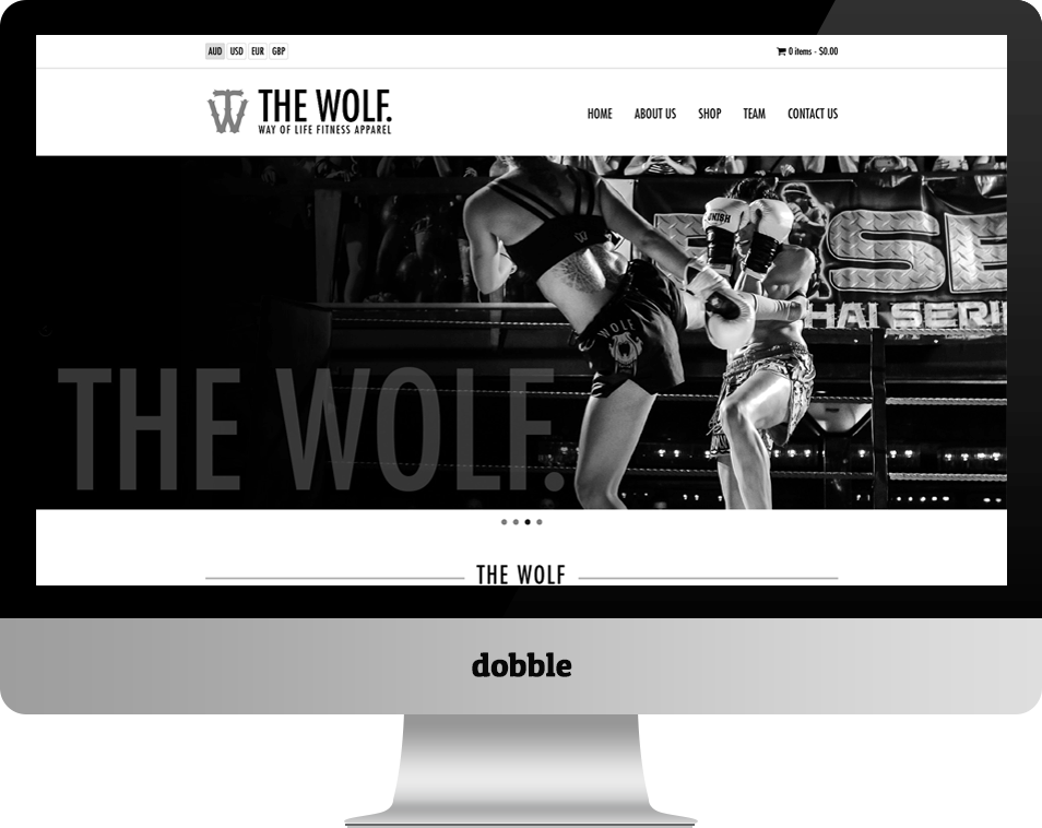 The WOLF. Apparel | Our Work at Dobble Pty. Ltd.